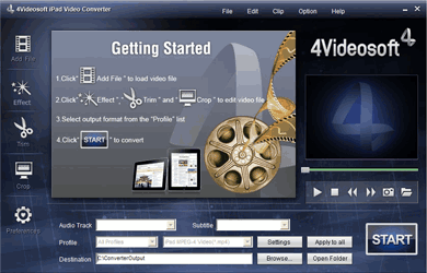 4Videosoft iPad Video Converter Screenshots