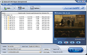 Aimersoft DVD Ripper Screenshots
