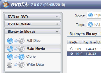 DVDFab Blu-ray Copy Screenshot