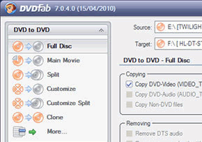 DVDFab DVD Copy Screenshot
