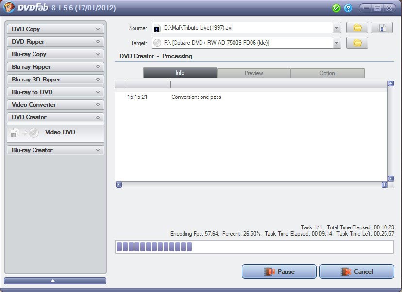 DVDFab DVD Creator Screenshot 3: