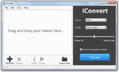 iConvert iPod Video Converter Screenshot